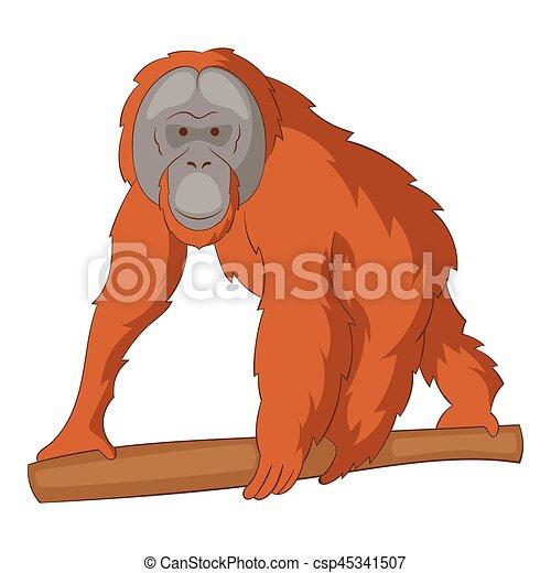 orangutan icon cartoon style orangutan icon cartoon illustration rh canstockphoto com cute orangutan clipart orangutan clipart black and white