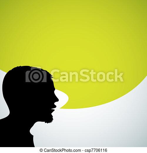 orateur, résumé, silhouette - csp7706116