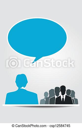 orateur, séminaire - csp12584745