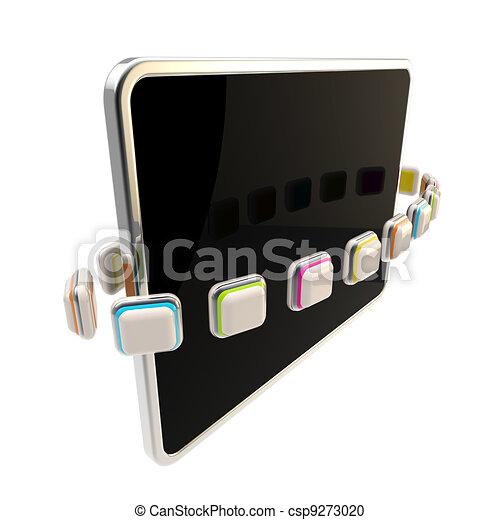 Orbit of application icons around pad screen - csp9273020