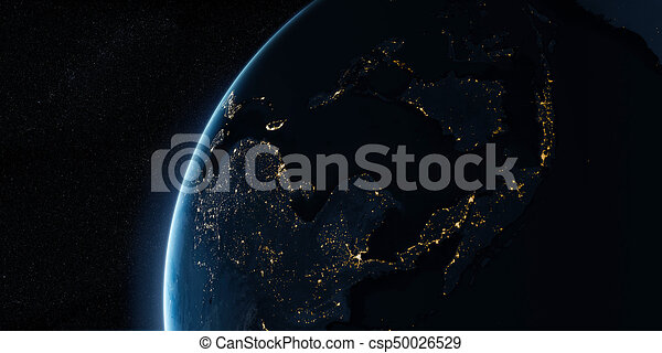 Orbital view on Earth from space - csp50026529