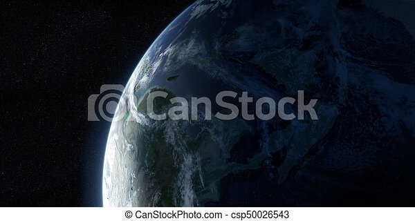 Orbital view on Earth from space - csp50026543