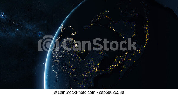 Orbital view on Earth from space - csp50026530