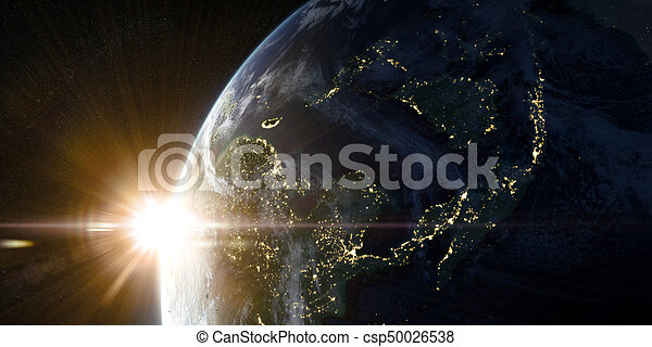 Orbital view on Earth from space - csp50026538
