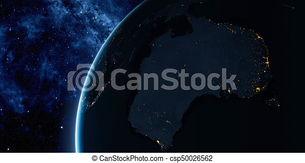 Orbital view on Earth from space - csp50026562