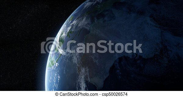 Orbital view on Earth from space - csp50026574