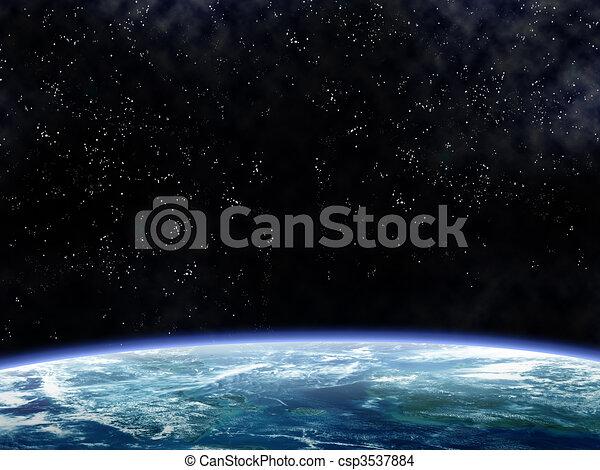 orbiter, la terre - csp3537884