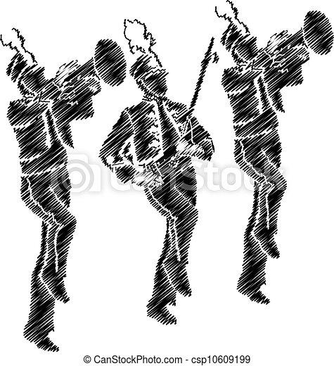 orchestra illustration - csp10609199