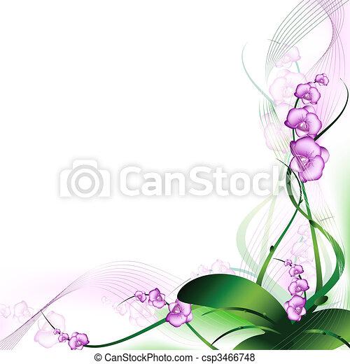 orchidée, pourpre - csp3466748