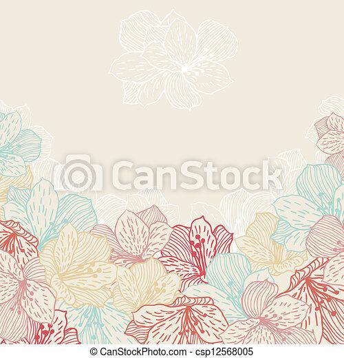 orchid., flor, resumen, seamless, elegancia, plano de fondo - csp12568005