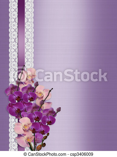 Orchids On Satin And Lace