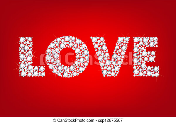 ord, kärlek - csp12675567