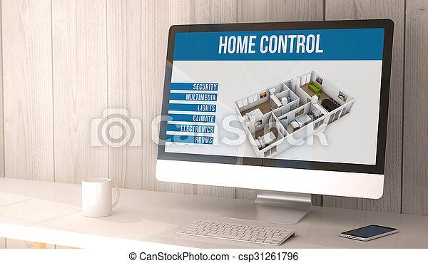 Automatización casera de escritorio - csp31261796