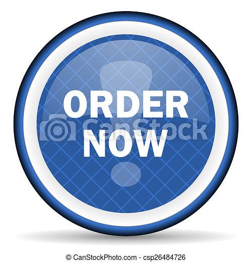 order now blue icon - csp26484726