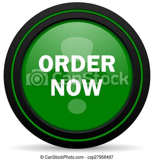 order now green icon - csp27958497