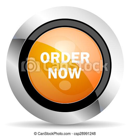 order now orange icon - csp28991248