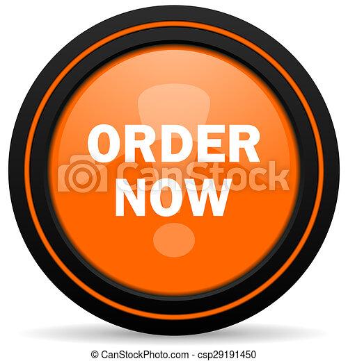 order now orange icon - csp29191450