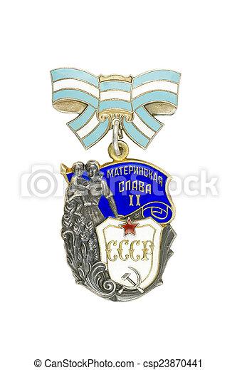 """Order of Maternal Glory of 2 degree."" - csp23870441"