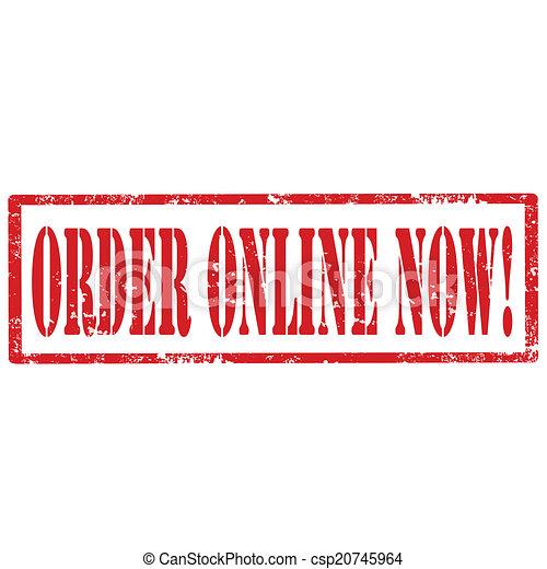 Order Online Now-stamp - csp20745964