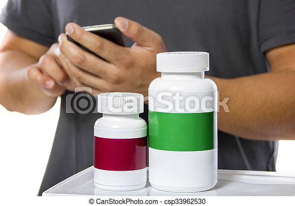 Ordering Supplements at an Online Pharmacy - csp33962530