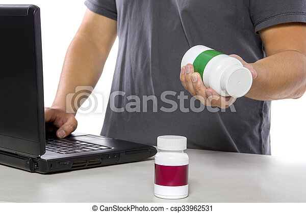 Ordering Supplements at an Online Pharmacy - csp33962531