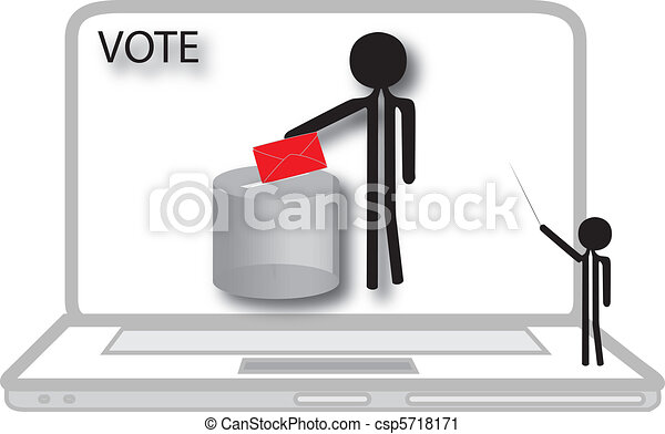 ordinateur portable, vote - csp5718171