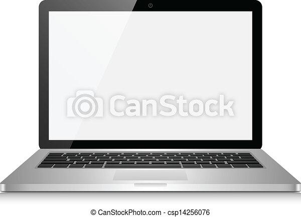 ordinateur portatif, écran, vide - csp14256076