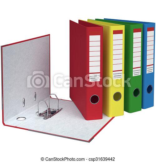 Ordner Farben.Set Von Büroordnern Unterschiedliche Farben Büro Ordner Mit