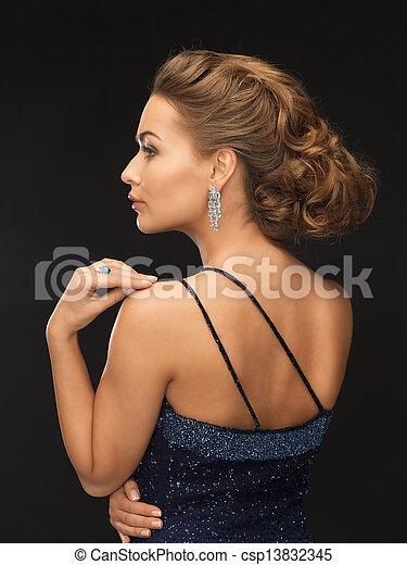 orecchini, donna, diamante - csp13832345