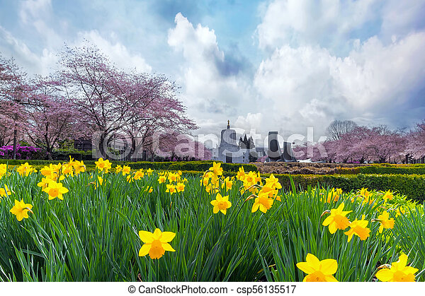 Oregon State Capitol in Spring Season - csp56135517
