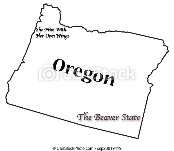 Oregon State Motto and Slogan - csp23819419