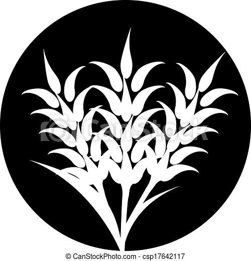 oreilles, graphique, blé, étiquettes, icônes, conditionnement, ou, bière, idéal, vecteur, orge, pain, etc., seigle, visuel - csp17642117