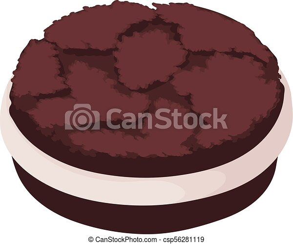 oreo biscuit icon isometric style oreo biscuit icon vector rh canstockphoto ca clipart oreo cookie clipart oreo cookie