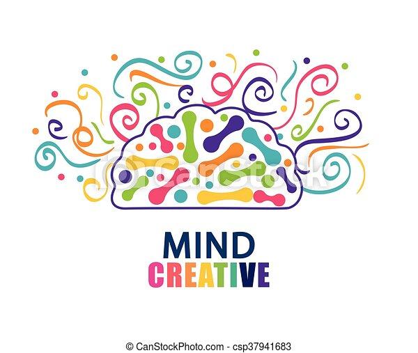 Organ., gráfico, cerebro, vector, humano, icon. Plano, concepto ...