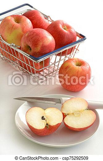 Organic Autumn Glory apples - csp75292509
