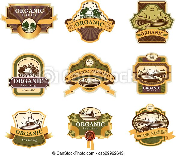 Organic farming lables - csp29962643