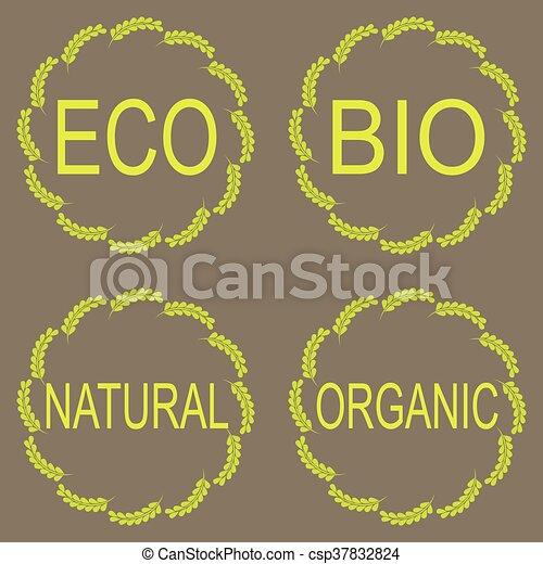 Organic food labels - csp37832824