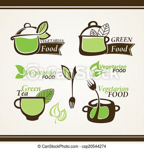 Organic food labels - csp20544274