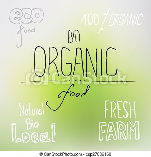 Organic food lettering - csp27086160
