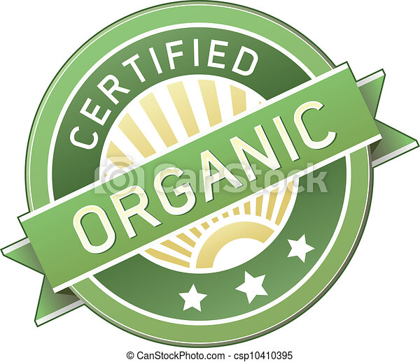 Organic food or product label - csp10410395
