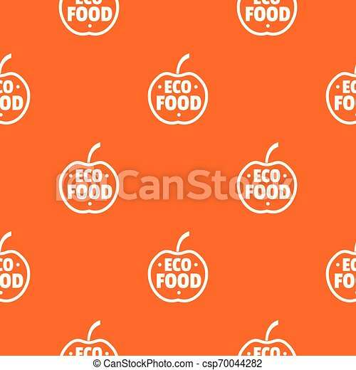 Organic Food Pattern Vector Orange For Any Web Design Best