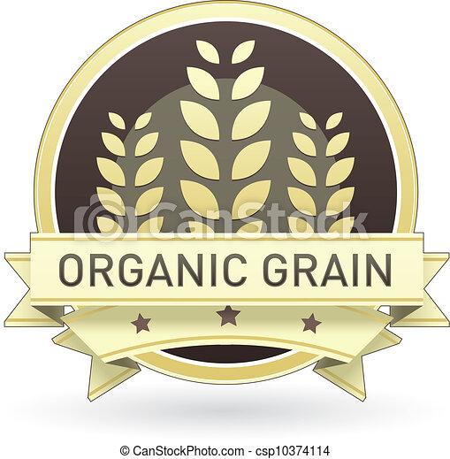 Organic grain food label - csp10374114