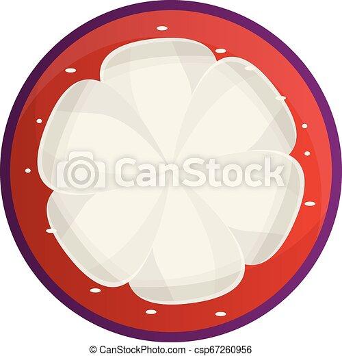 Organic mangosteen icon, cartoon style - csp67260956