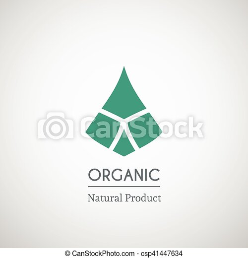 Organic natural product logo - csp41447634