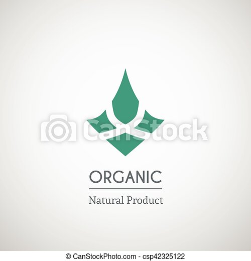Organic natural product logo - csp42325122