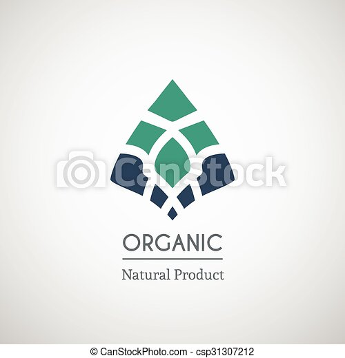 Organic natural product logo - csp31307212