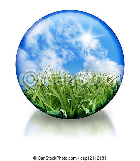 Organic, Nature Circle Orb Icon - csp12112181