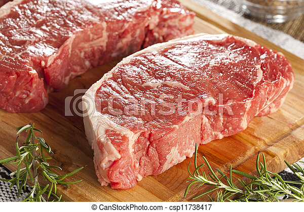 Organic Red Raw Steak Sirloin - csp11738417
