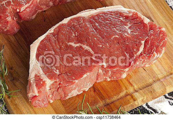 Organic Red Raw Steak Sirloin - csp11738464