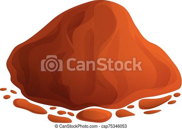 Organic soil icon, cartoon style - csp75346053